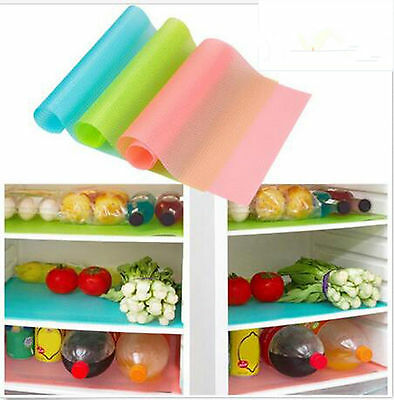 HOT Easy Clean Kitchen Antibacterial Cabinet Pad Anti Slip Fridge Liner Mat BO