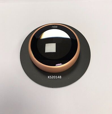 Nest thermostat Round wall plate Black
