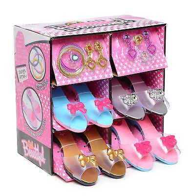 Fashionista Girl Princess Dress Up and Role Play Collection Shoe set and Jewelry