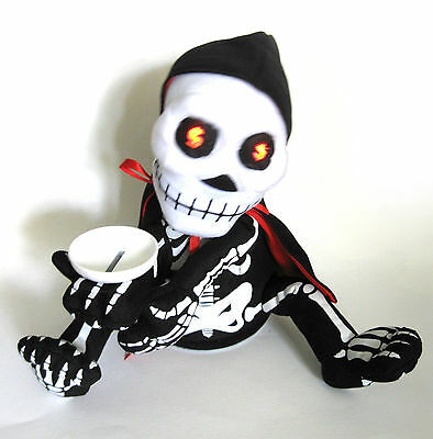 Animated Reaper Piggy Bank Singing Skeleton Halloween Party Decoration Prop 9