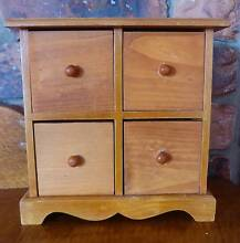 4 Drawer Jewellery or Knick Knack Box - Solid Pine Kallangur Pine Rivers Area Preview