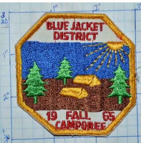 BSA BLUE JACKET DISTRICT FALL CAMP 1965 DAN BEARD COUNCIL OHIO BOY SCOUT PATCH