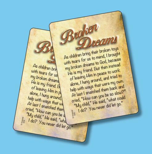"""Broken Dreams"" - 2 Inspirational Verse Cards - sku# 678"