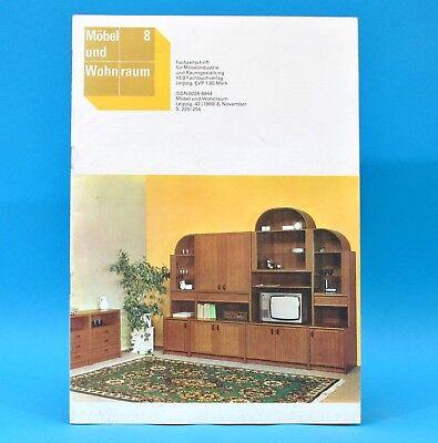 DDR Möbel und Wohnraum 8/1989 Holzindustrie Halberstadt Wohnprogramm Falkensee B
