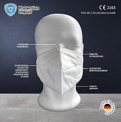 50 x FFP2 Atemschutz-Maske CE zertifiziert Mundschutz Deutsche Herstellung MNS
