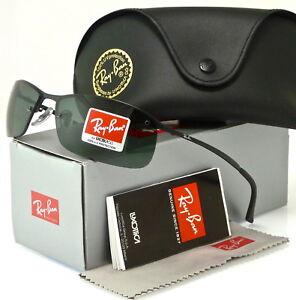 RAY-BAN TOP BAR RB3183 006/71 63MM BLACK / GREEN CLASSIC