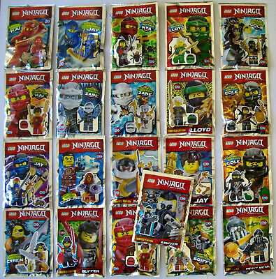 Lego Ninjago Limitierte Mini-Figuren Jay Kai Nya Zane Lloyd Cole OVP Neu ()