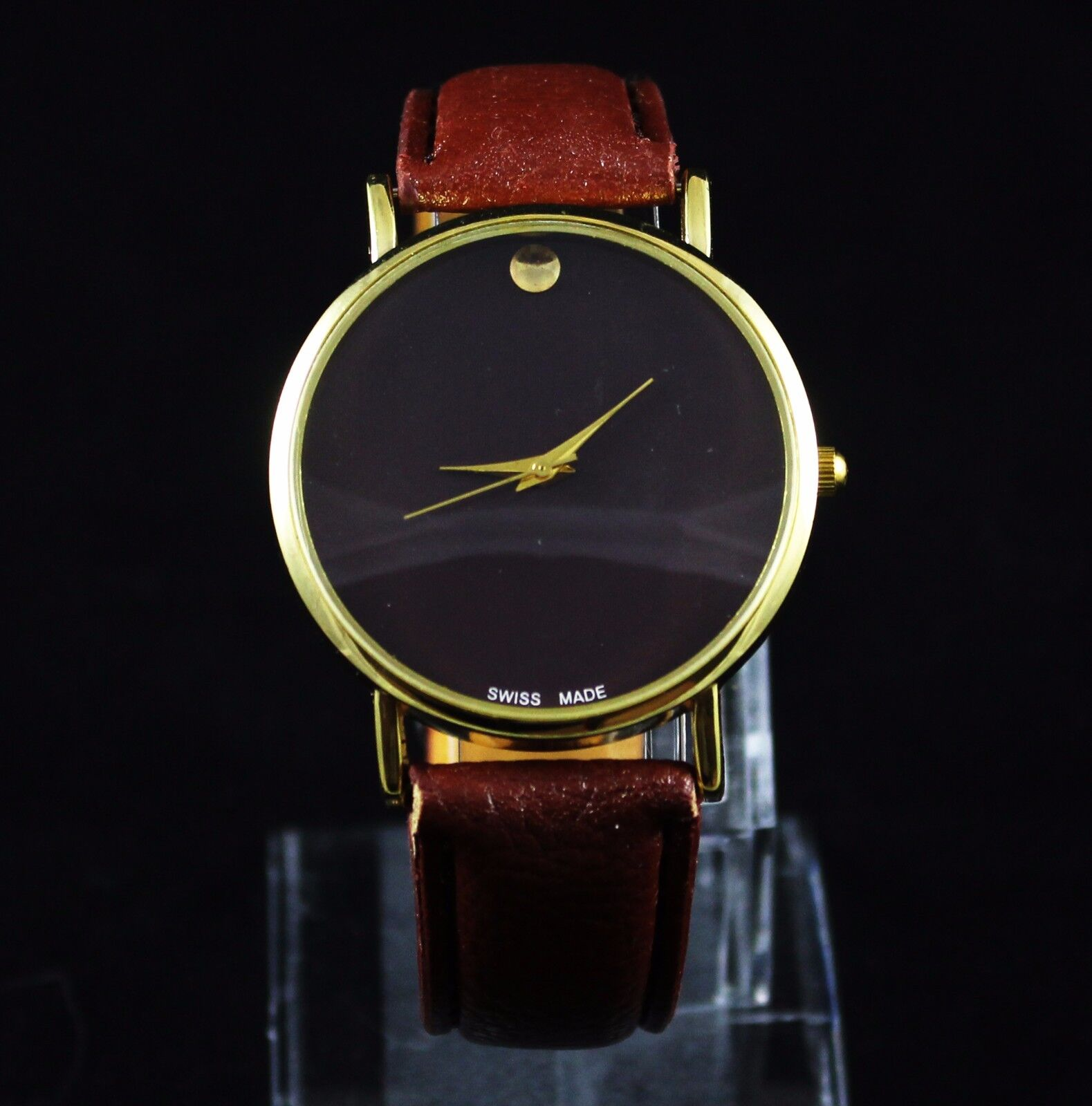 $6.99 - New Men's Classic Leather Fashion Designer Inspired Luxury Wrist Watch Watches