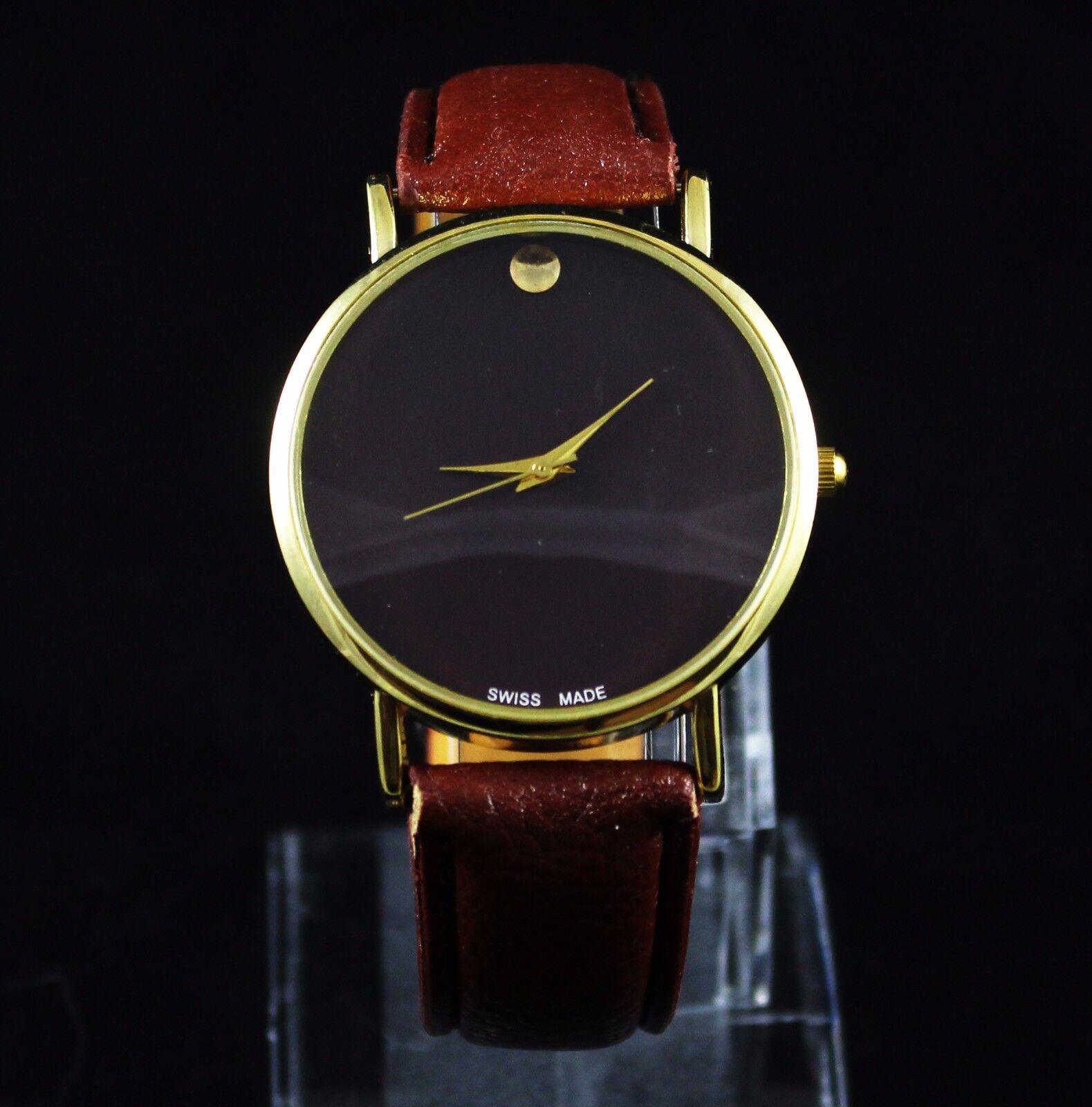 $6.99 - New Men's Classic Leather Fashion Designer Inspired Luxury Wrist Watch Watches