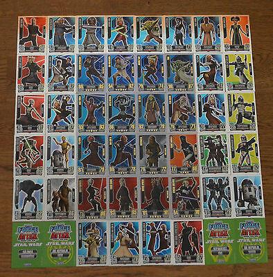 Force Attax Clone Wars Serie 2 *Force Meister aussuchen Topps Star Wars Karten*