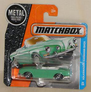 Matchbox VOLKSWAGEN KARMANN GHIA Cabrio Oldtimer VW Auto MBX Adventure City NEU