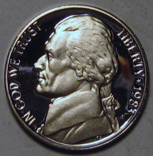 1983-S Proof Jefferson Nickel Full Steps Nice Coins Priced Right Shipped FREE