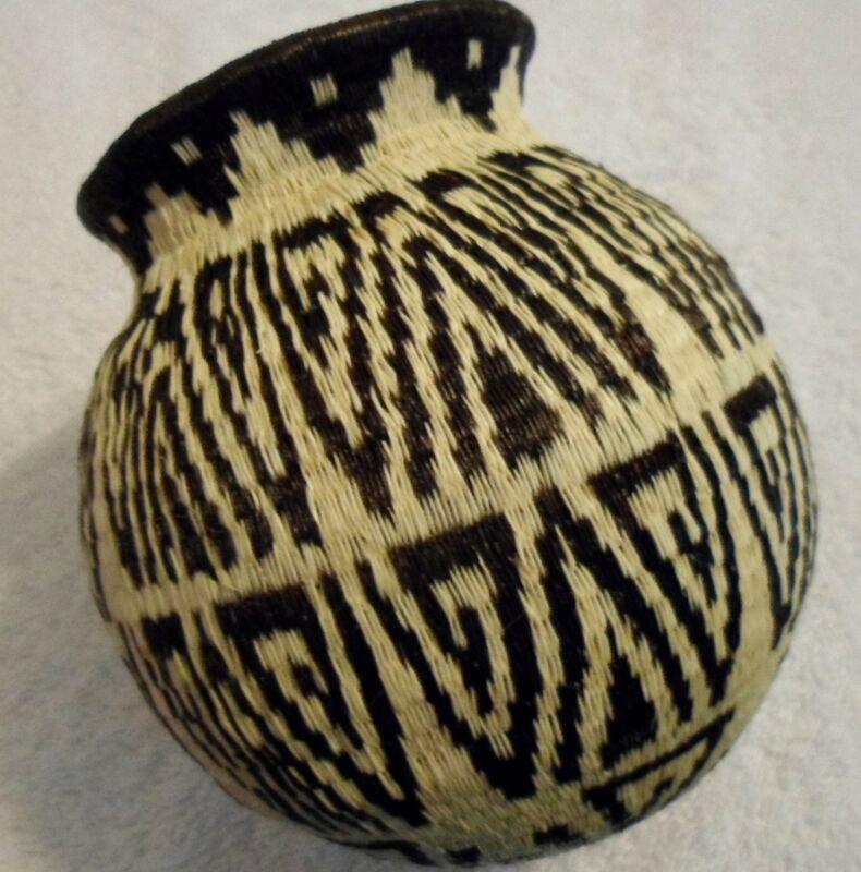 Wounaan Embera Woven Classic Design Basket-Panama 20121708mm