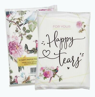 For Your Happy Tears ® Wallet Tissues Wedding Favours Christening Prom X2 - Happy Tears