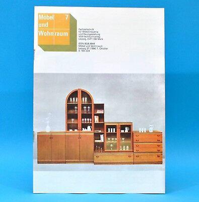 DDR Möbel u. Wohnraum 7/1984 Fachzeitschrift Freiraummöbel Möbel aus Zeulenroda