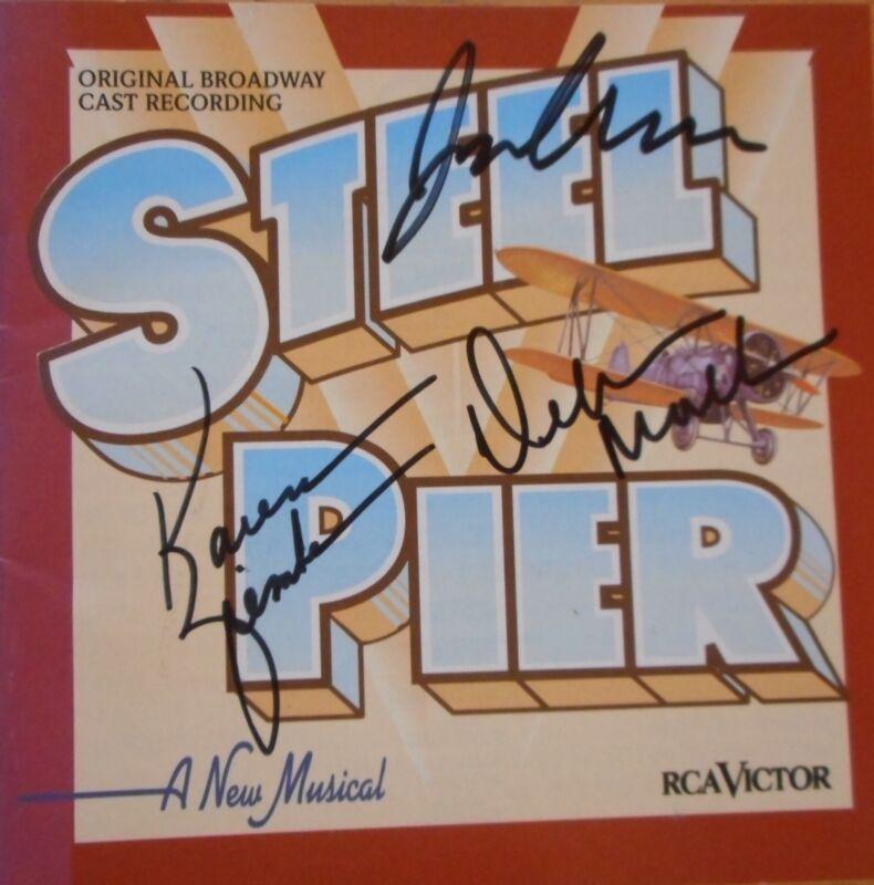 Karen Ziemba Jim Newman & Debra Monk Signed Steel Pier CD Autographed Excellent