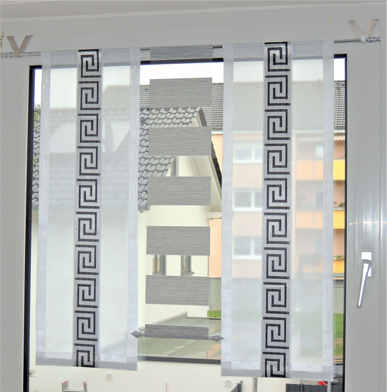 Bistro- Scheibengardinen Set Küchengardine Flächenvorhänge H-90/B-80 cm neu