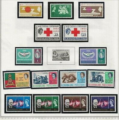 BECHUANALAND Sc 194/209 NH issue of 1963/66 - FEW GOOD SETS