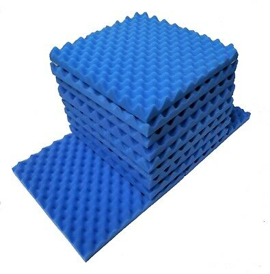 "9 pack Acoustic Soundproofing Egg Crate Foam Tiles 1.5"" x 12 x 12 (Blue)"