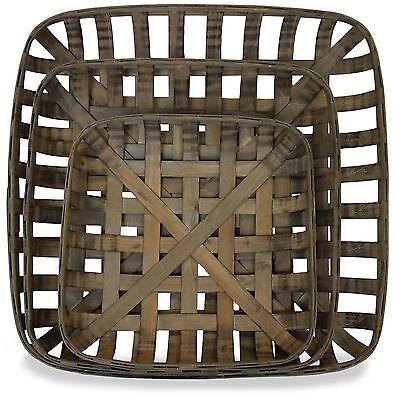 Tobacco Baskets, Set of 3, (Medium, Large, XLarge) | by Urban Legacy