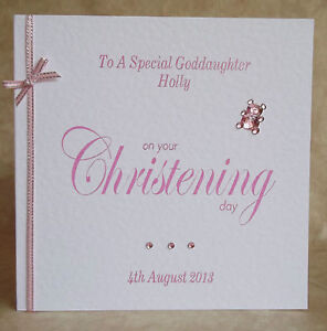 Handmade-Personalised-Christening-Card-Godson-Goddaughter-Niece-Nephew-Other