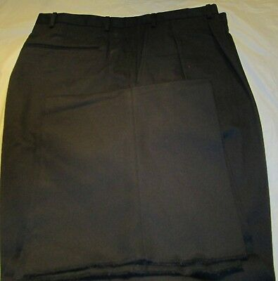 Men's Big And Tall Dress Pant Black Size 48 open hem  65 Poly 35 Cotton 4 Pocket Big And Tall Mens Dress Hose