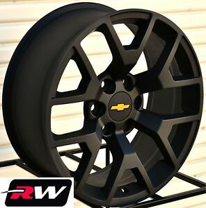 GMC Sierra Replica Wheels Satin Black 20 inch Rims fit Silverado Tahoe Suburban