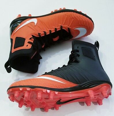 71cf45e2b Nike Force Savage Varsity Football Cleats Size 10 NEW orange black white