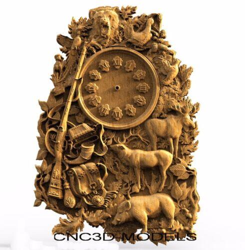 3D STL Models for CNC Router Engraver Carving Artcam Aspire Clock Animal 8101