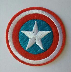 Captain America Shield Logo Iron-On Patch Marvel Comics Avengers Movie Cosplay