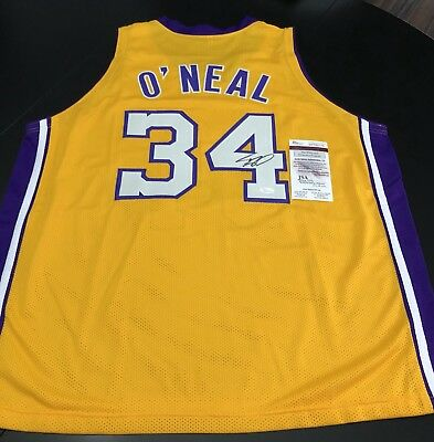 07d95812dbf Shaq Shaquille O Neal Signed Authentic LA lakers Jersey JSA COA Heat Magic
