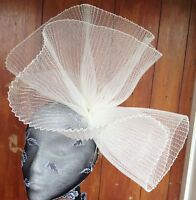Ivory Fascinator Millinery Burlesque Wedding Hat Hair Piece Ascot Race Bridal - 1 - ebay.co.uk