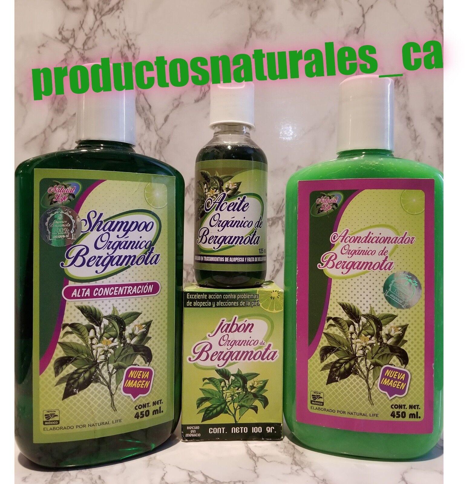 ORGANIC BERGAMOT SHAMPOO COMBO 100% Natural & Original *Hair Loss* (4Pack)