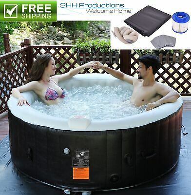 Inflatable Bubble Massage Hottub Spa - 130 Jet Portable Outdoor Hot Tub (Spa Jacuzzi Hot Tub)