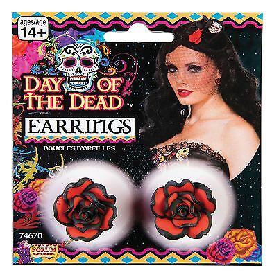 Der Ring Halloween (Tag der toten Rose Ohrringe, Halloween-Abendkleid-Partei-Kostüm-Zusatz #DE)
