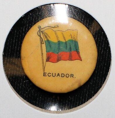 """1890's Era Sweet Corporal Cigarette """"Ecuador"""" Pin"""