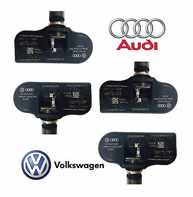 4x NEW Volkswagen For Audi TPMS Tire Pressure Monitoring Sensor 315 MHz