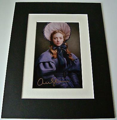 Amanda Seyfried Signed Autograph 10x8 photo display Les Miserables Film & COA