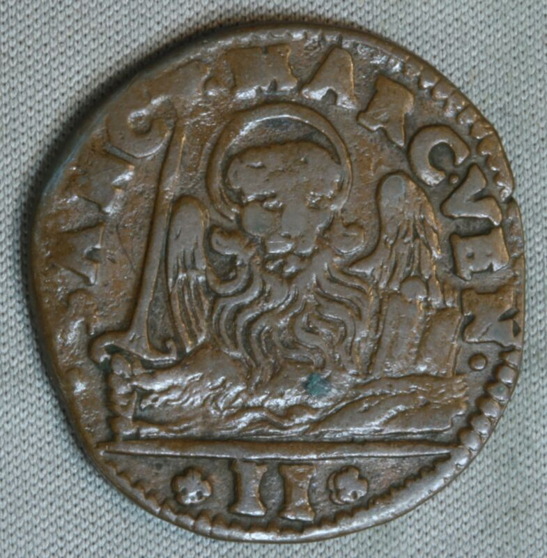 1654-1668 Italian States Venice Gazzetta 2 Soldi Italy World SK608