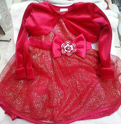 NEW RED LADYBUG DRESS JACKET 12 18 24 MONTHS 2T 4T BABY GIRLS INFANT TODDLER