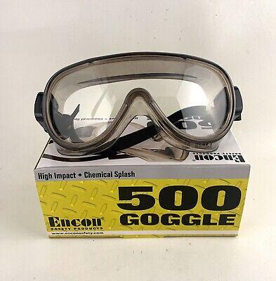 Encon 500 Anti-fog Chemical Splash High Impact Safety Goggles Clear Lens