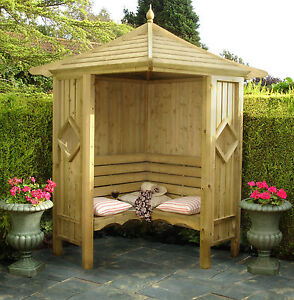GARDEN ARBOUR Corner Arbour Free Delivery most post codes
