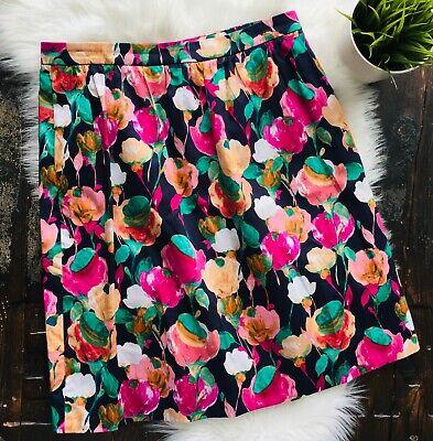 J. Crew Floral Pleated Skirt Women's 8 EUC