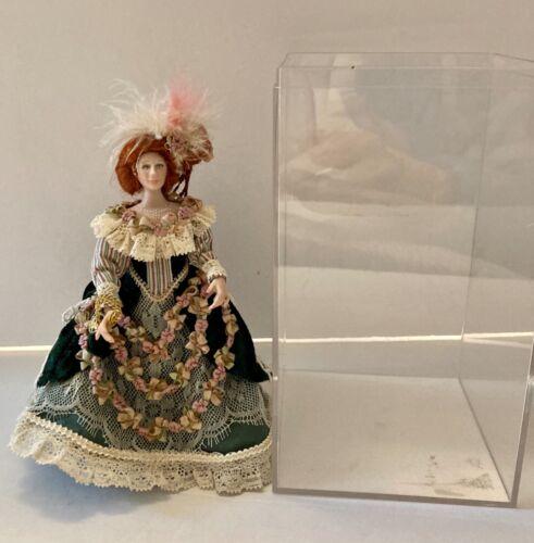 Dollhouse Miniature Porcelain Doll: 1800's Style Lady #LLD115 - Sarah R. Hayward