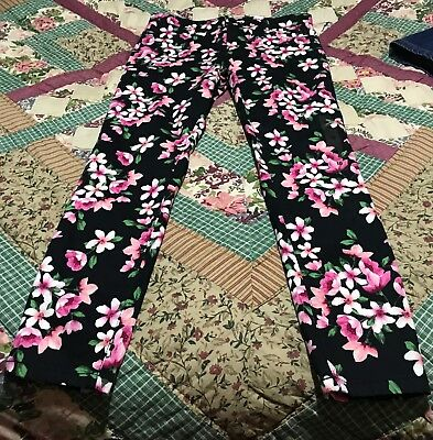NWT The Childrens Place Girls  Floral Print Pants