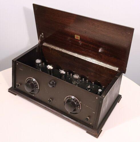 CASE RADIO APPARATUS MODEL 60A INDIANA MFG ANTIQUE 1926 TABLETOP TUBE TUNER