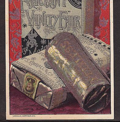 1878 Wm S Kimball Tobacco Peerless Fine Cut Vanity Fair Cigarettes Ad Trade Card