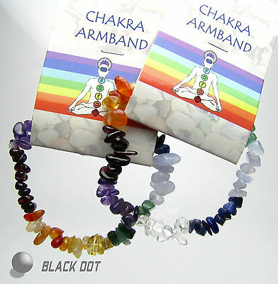Chakra Armband mit 7 Verschiedene Chakren Edelsteinen Flexibeles Armband