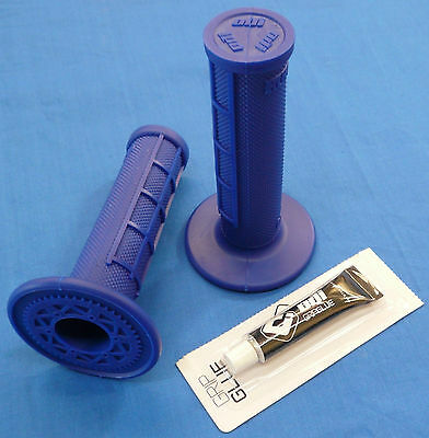 YAMAHA YFZ 450R YFZ450R ODI HALF WAFFLE MX GRIPS GLUE BLUE NEW TWIST THROTTLE