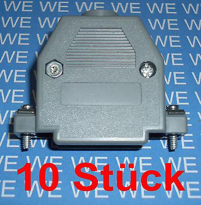 10Stück  SUB-D Gehäuse 25-polig / Posthaube grau